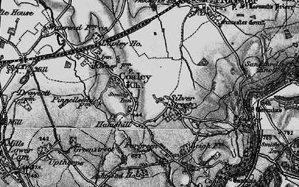 Old map of Coaley in 1897