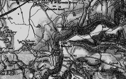 Old map of Coaley Peak in 1897