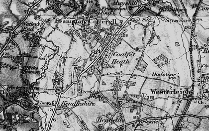 Old map of Coalpit Heath in 1898