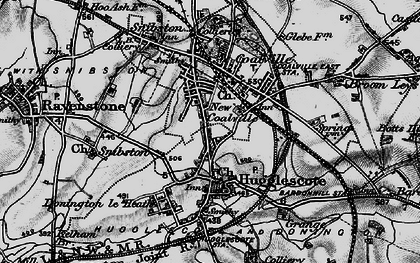 Old map of Coalville in 1895