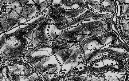 Old map of Whetcombe in 1898
