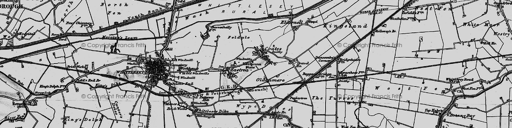 Old map of Whitecross Stone in 1898