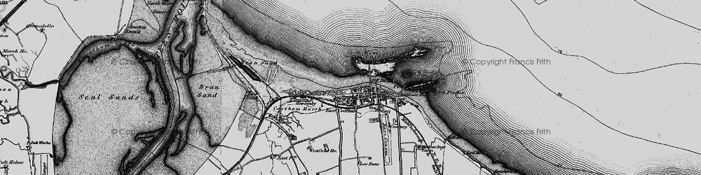 Old map of West Scar in 1898