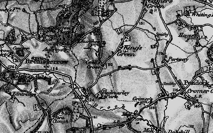 Old map of Cobb's Cross in 1896