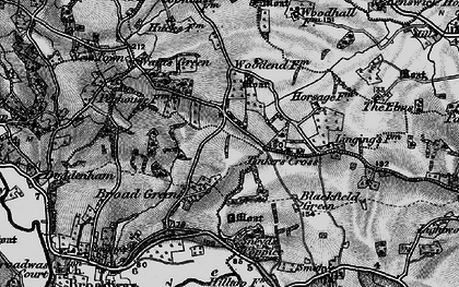 Old map of Tinkers' Cross in 1898