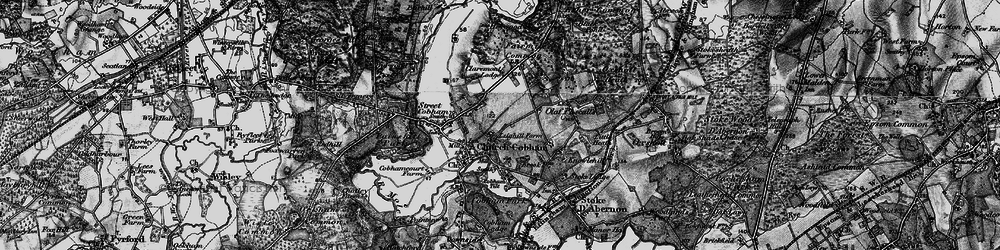 Old map of Cobham in 1896