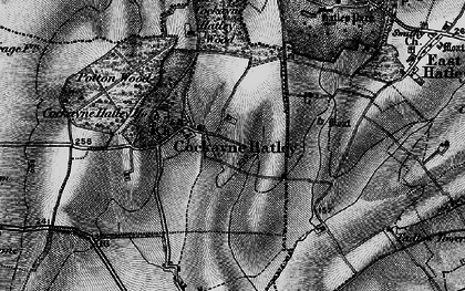 Old map of Cockayne Hatley in 1896