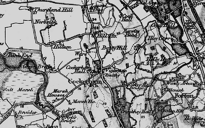 Old map of Launds, The in 1896