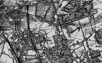 Old map of Cockfosters in 1896