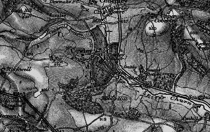 Old map of Tomtit's Bottom in 1896