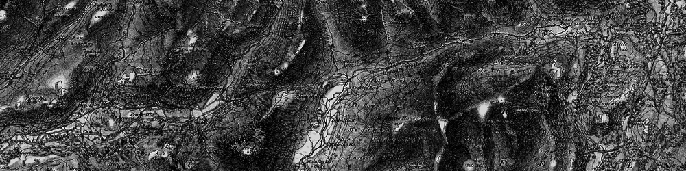 Old map of Wet Side Edge in 1897