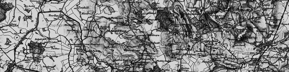 Old map of Whattal in 1897