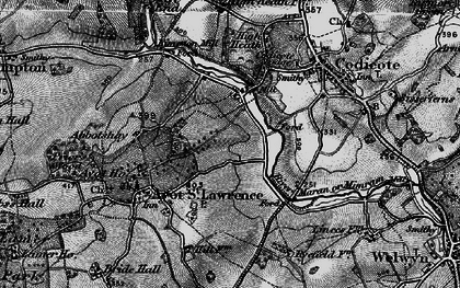 Old map of Codicote Bottom in 1896