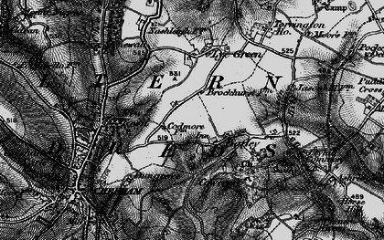Old map of Codmore in 1896