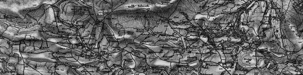 Old map of Lang Combe in 1898