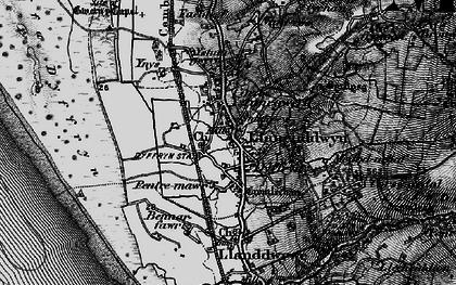 Old map of Ystum-gwern in 1899