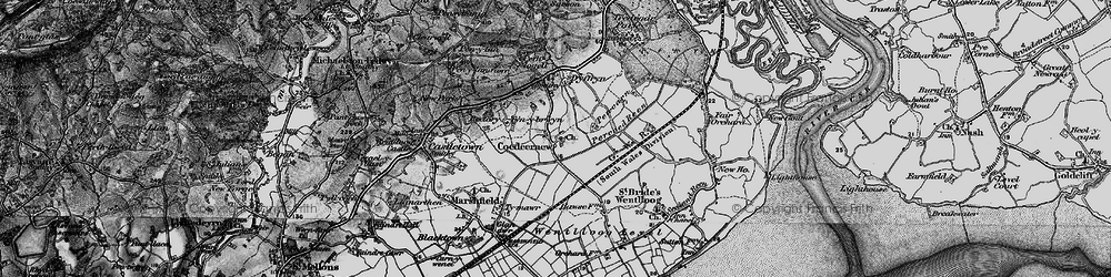 Old map of Coedkernew in 1898