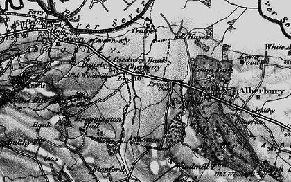 Old map of Alberbury Castle in 1899