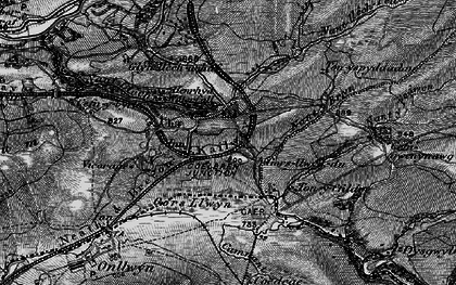 Old map of Tonspyddaden in 1898