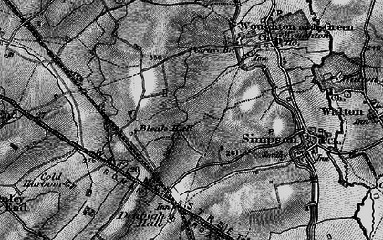 Old map of Coffee Hall in 1896
