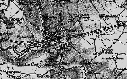 Old map of Coggeshall in 1896