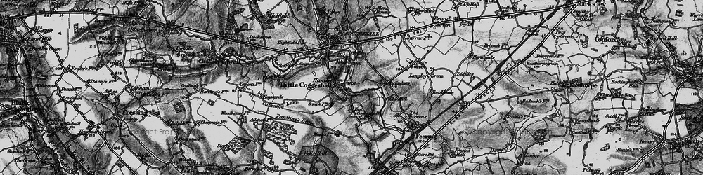 Old map of White Barn in 1896