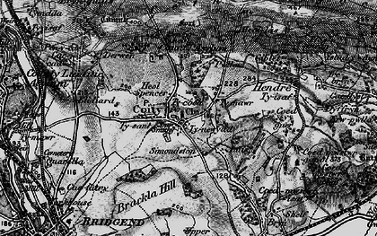 Old map of Coity in 1897