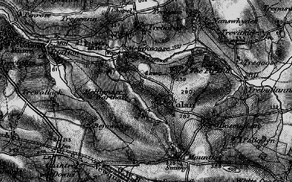 Old map of Colan in 1895