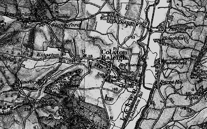 Old map of Colaton Raleigh in 1898