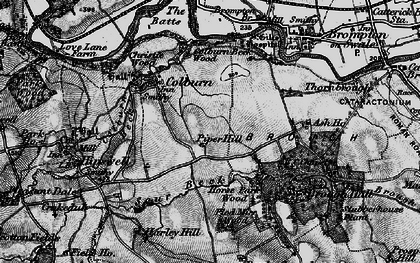 Old map of Colburn in 1897