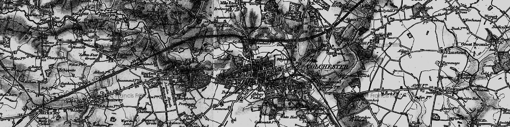 Old map of Colchester in 1896