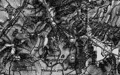 Old map of Cold Ash in 1895