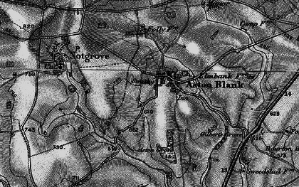Old map of Aston Grove in 1896