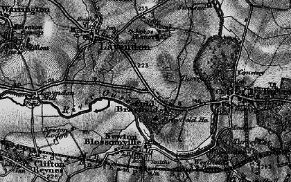 Old map of Cold Brayfield in 1896
