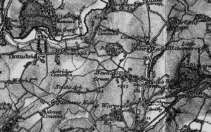Old map of Ashridge Common in 1896
