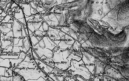 Old map of Yarlsber in 1898