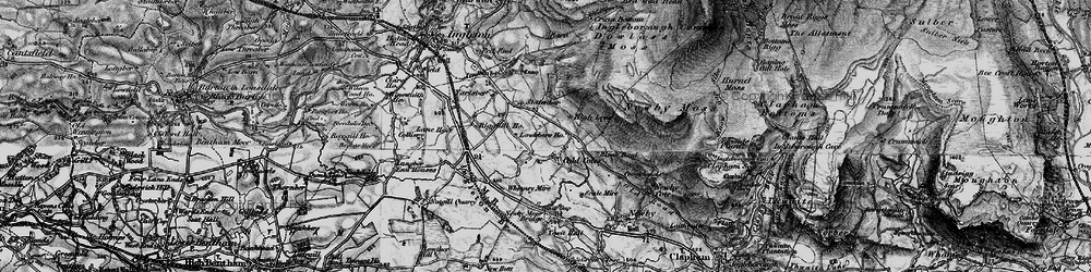 Old map of Whinney Mire in 1898