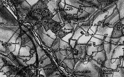 Old map of Cold Harbour in 1896