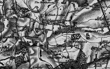Old map of Whitemoor, The in 1897