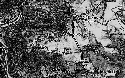 Old map of Coldharbour in 1897