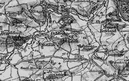 Old map of Aller Br in 1898