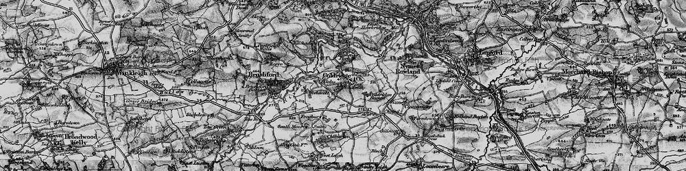 Old map of Aller Br in 1898