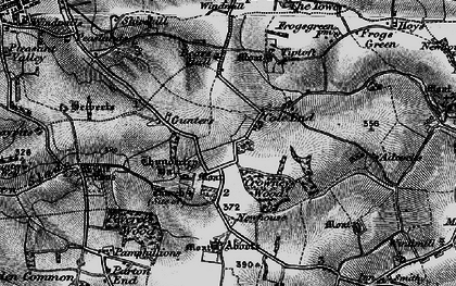 Old map of Abbots in 1895