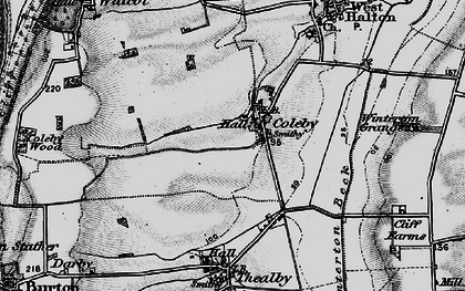 Old map of Coleby in 1895