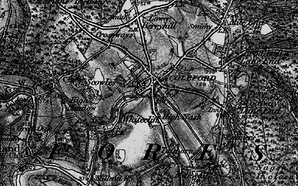 Old map of Coleford in 1896