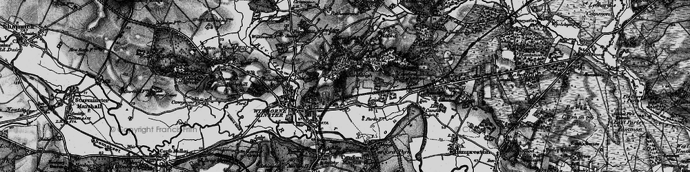 Old map of Colehill in 1895