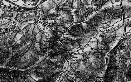 Old map of Coleman's Hatch in 1895