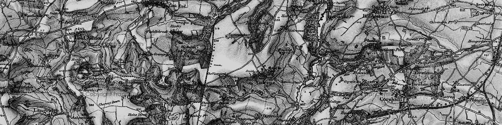 Old map of Colerne in 1898