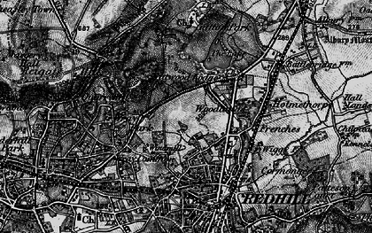 Old map of Coles Meads in 1896