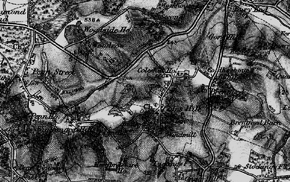 Old map of Coleshill in 1896